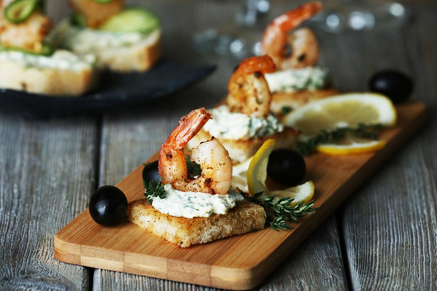 shrimp-olives